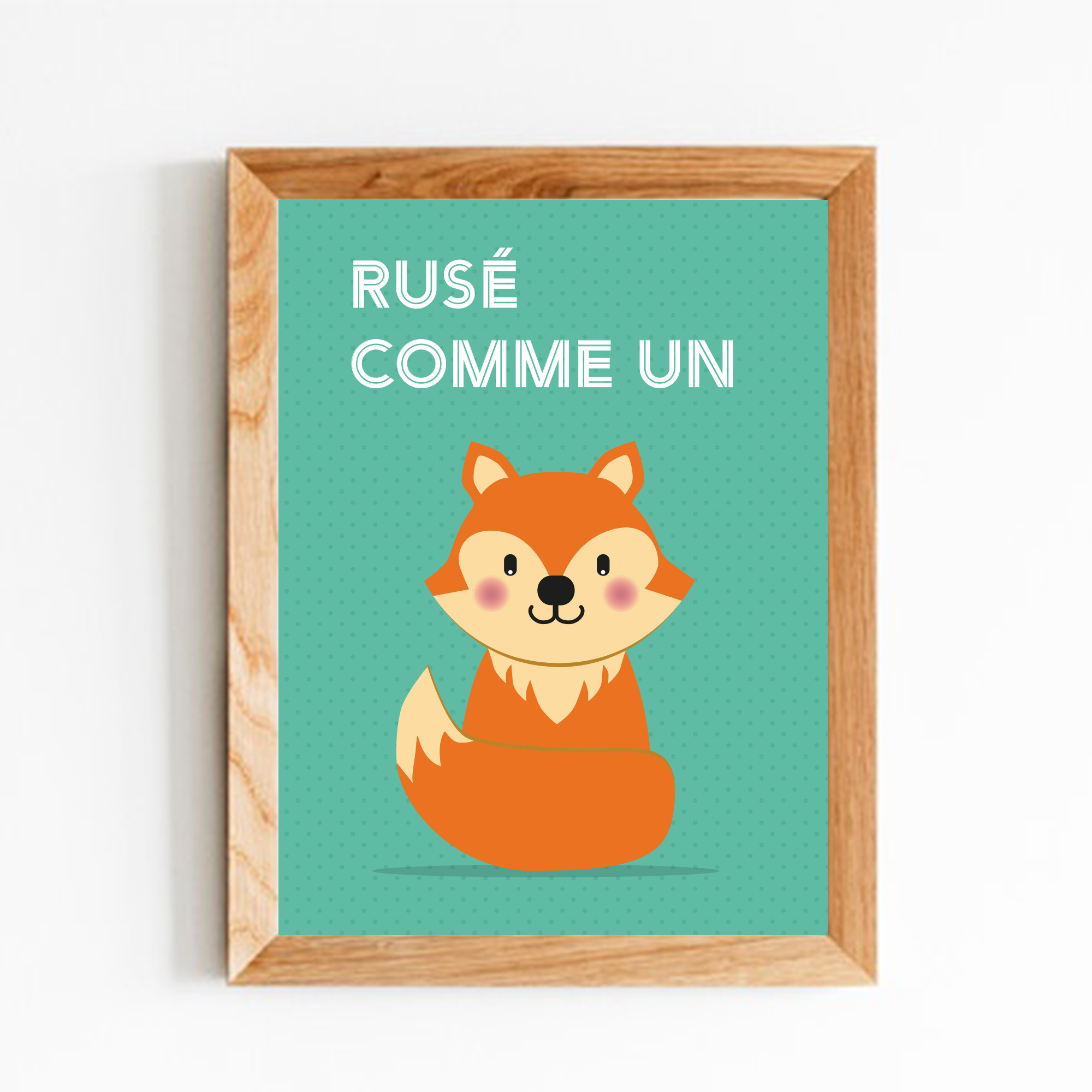 renard-affiche-decoration-enfant